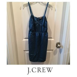 J. Crew Blue Silk Slip Dress